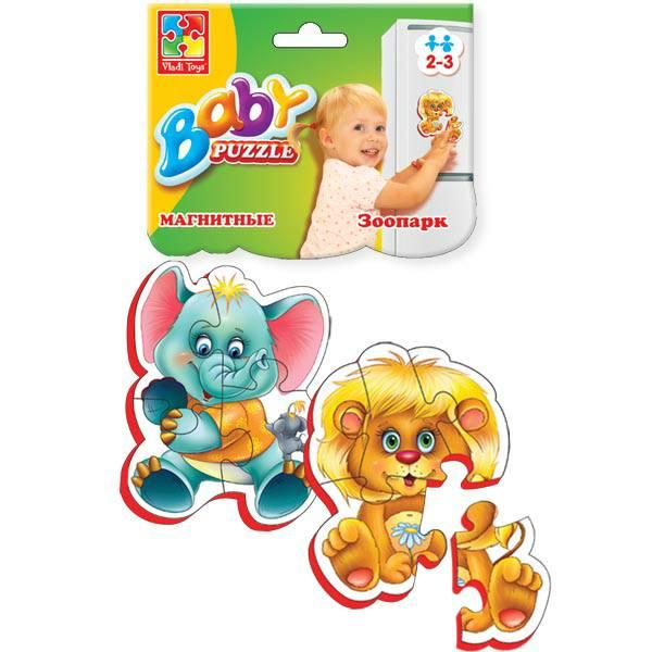 VladiToys. Мягкие магнитные пазлы (Baby puzzle)  Зоопарк