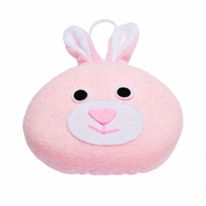 Мягкая губка с махровым покрытием Rabbit