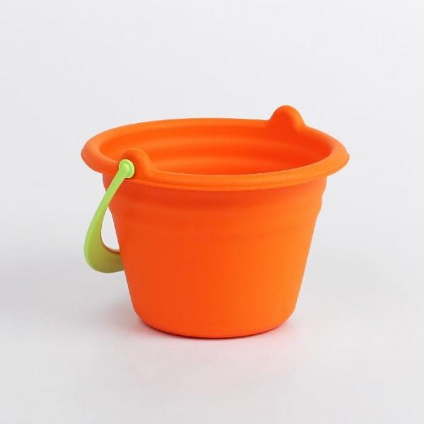 Игрушка для купания Ведёрко, мягкое, оранжевое