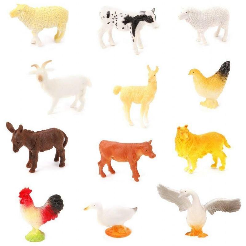 Набор домашних животных Farm animal, 8-12см, 12шт.