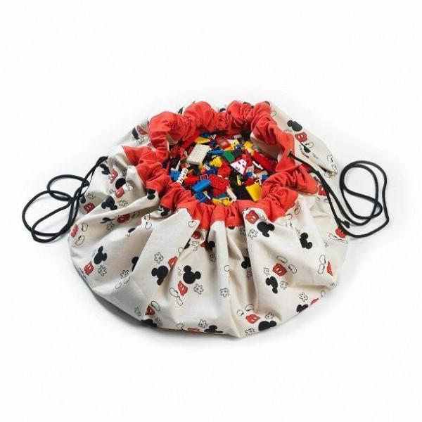 2 в 1: мешок Disney Mickey Cool для хранения игрушек и игровой коврик Play&Go.