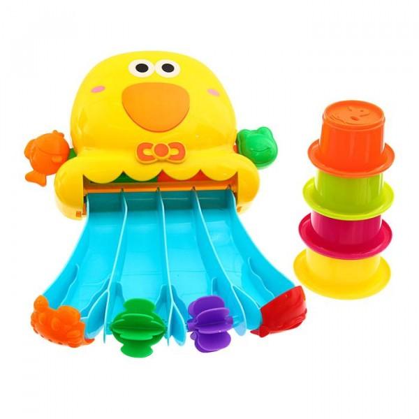 Игрушки для купания Водное приключение, набор со стаканчиками (голубая)